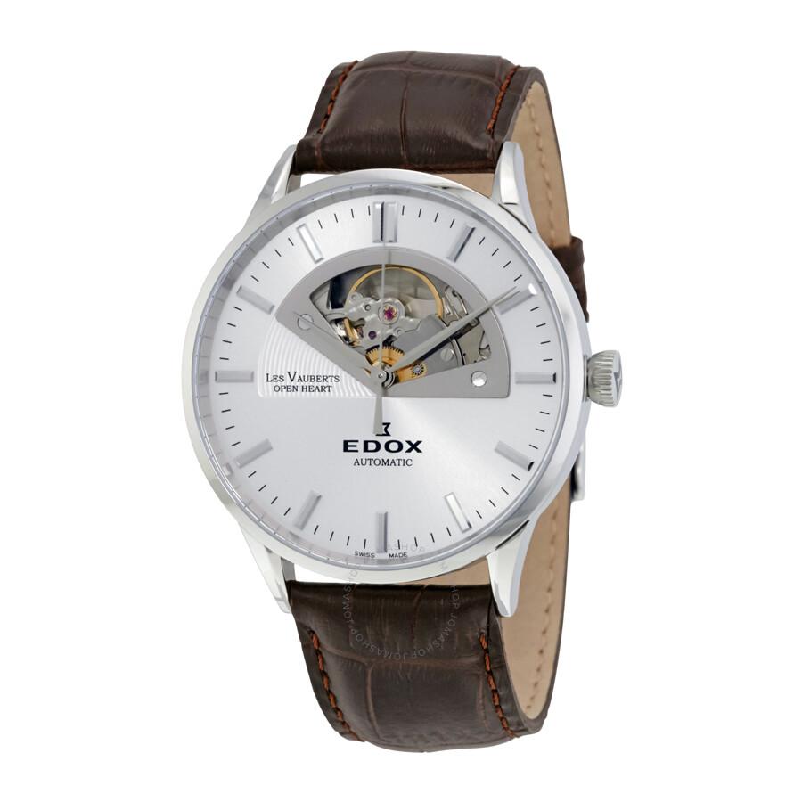 Edox Les Vauberts Open Heart Automatic Men's Watch 85014 3 ...