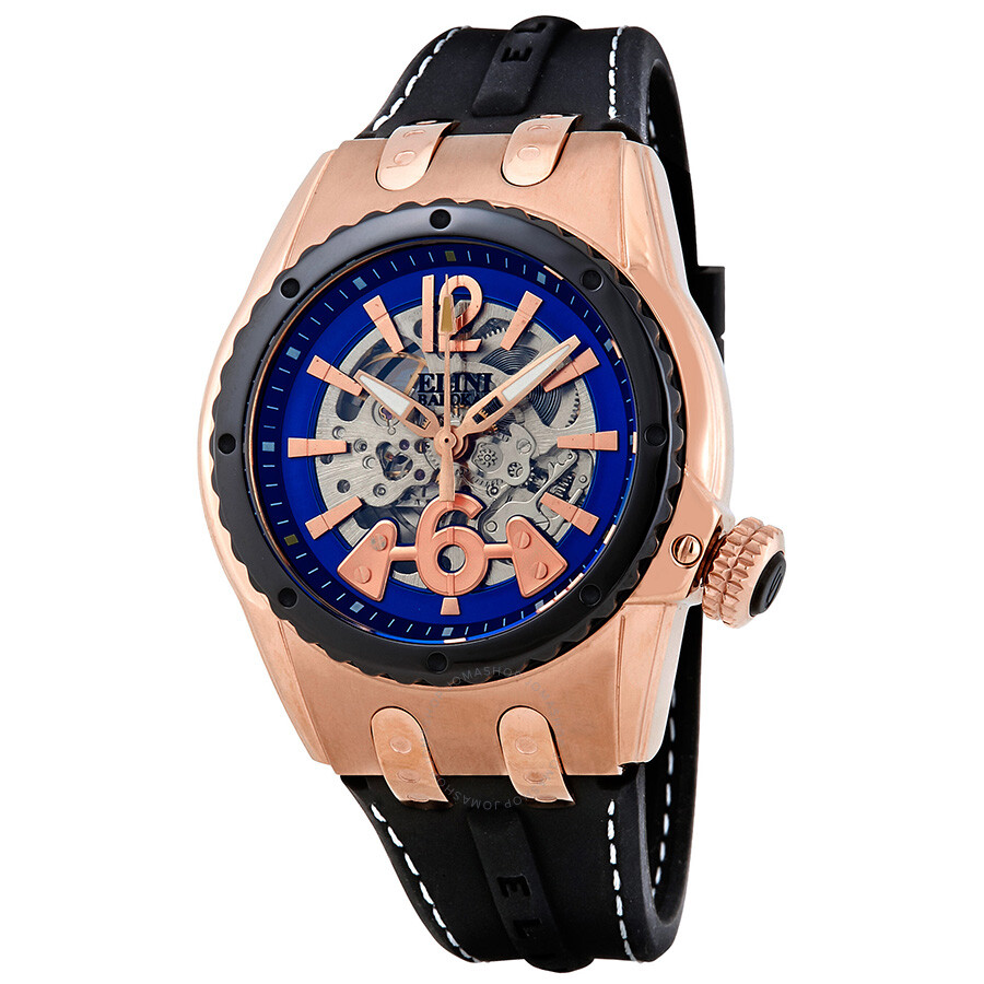 Elini Barokas Genesis Prime Automatic Men's Watch ELINI-20026-RG-03-BB ...