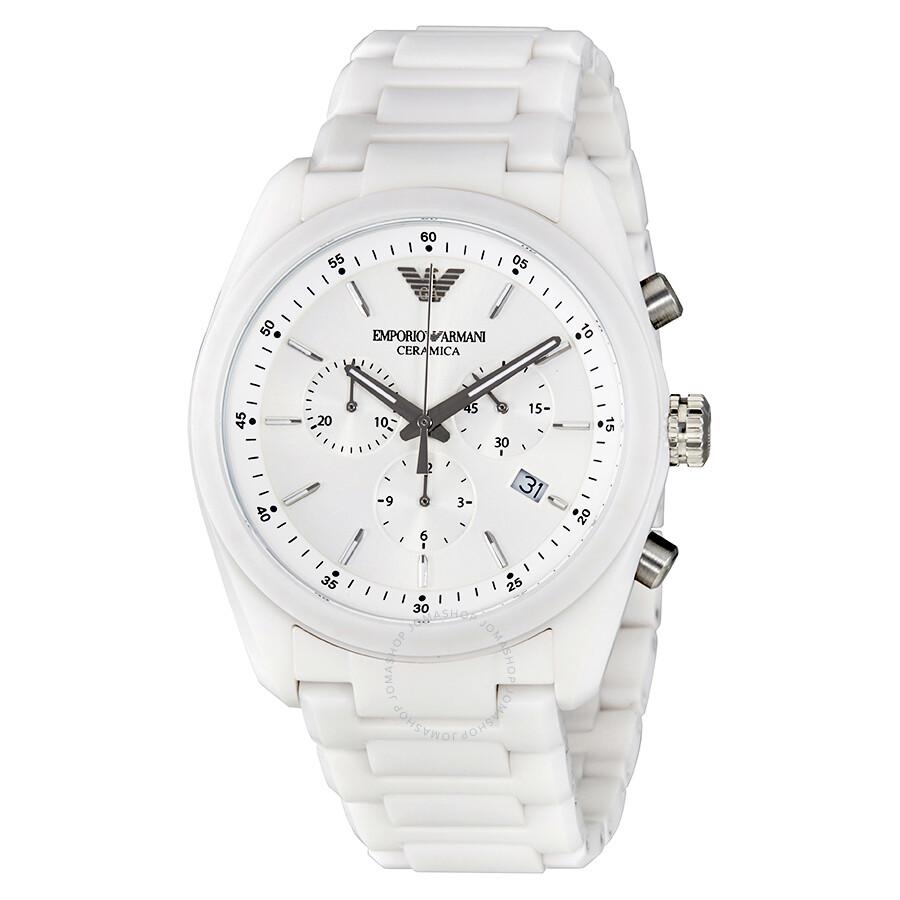 767558d213 Emporio Armani Ceramica White Dial Ladies Watch AR1493