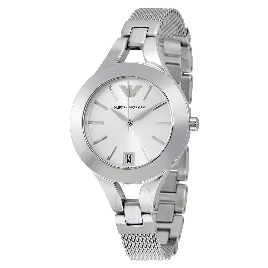 238ab209 Emporio Armani Chiara Silver Dial Stainless Steel Ladies Watch AR7401