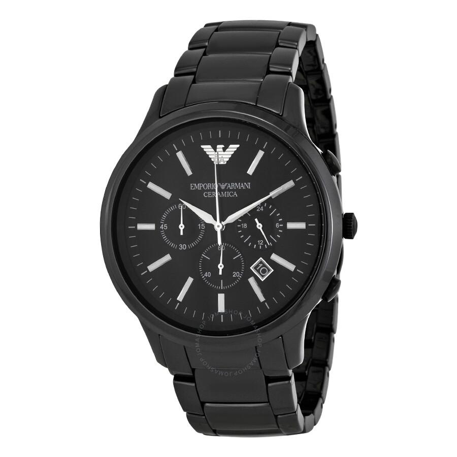 Emporio armani chronograph black dial black ceramic men 39 s watch ar1474 emporio armani for Ceramic man watch