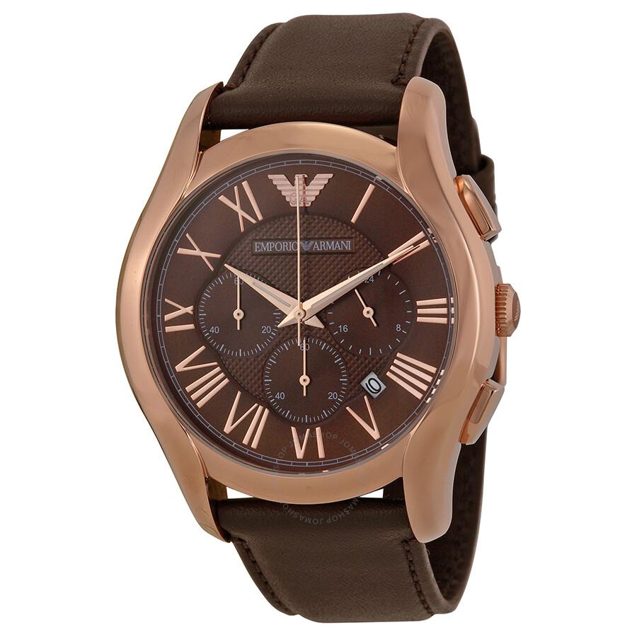 emporio armani chronograph brown dial men 39 s watch ar1701. Black Bedroom Furniture Sets. Home Design Ideas
