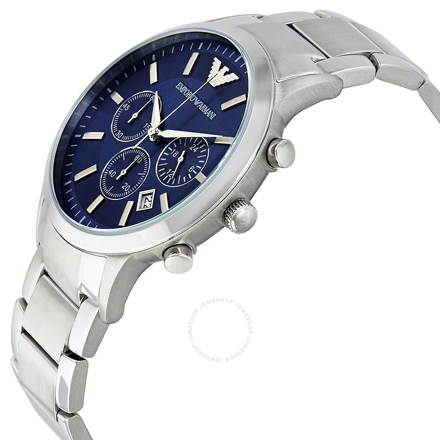 bf9160ed189 ... Emporio Armani Chronograph Navy Blue Dial Men s Watch AR2448 ...