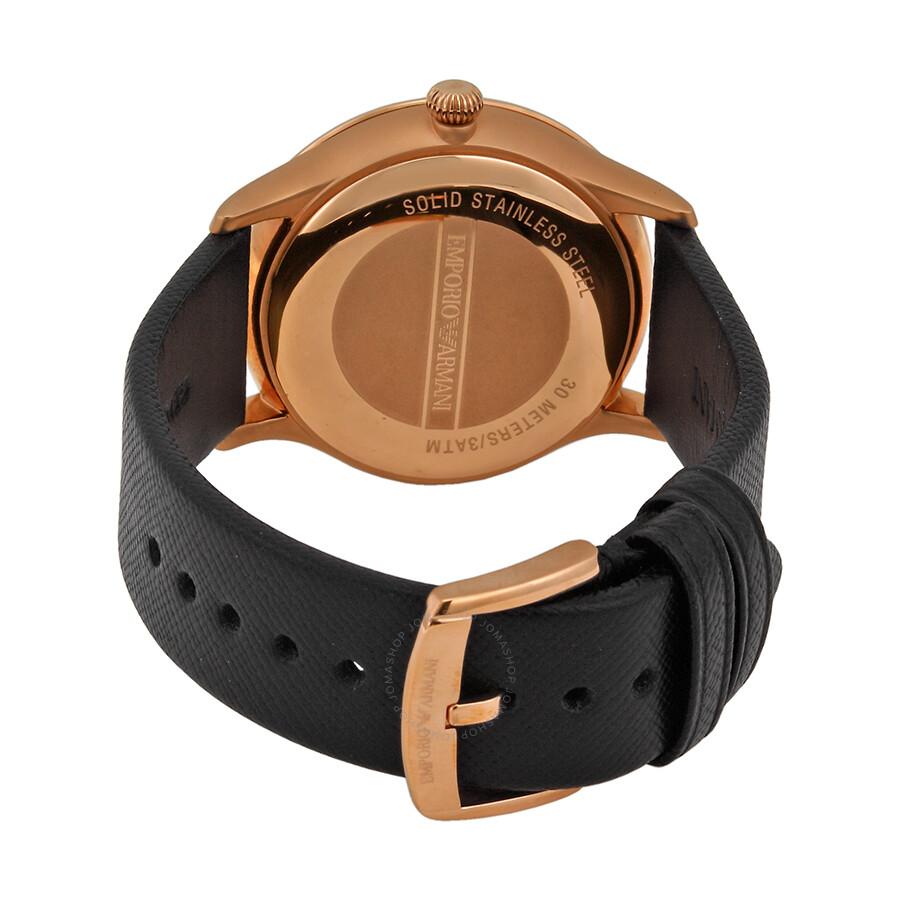 Emporio armani classic black dial black leather strap men 39 s watch ar1798 emporio armani for Black leather strap men
