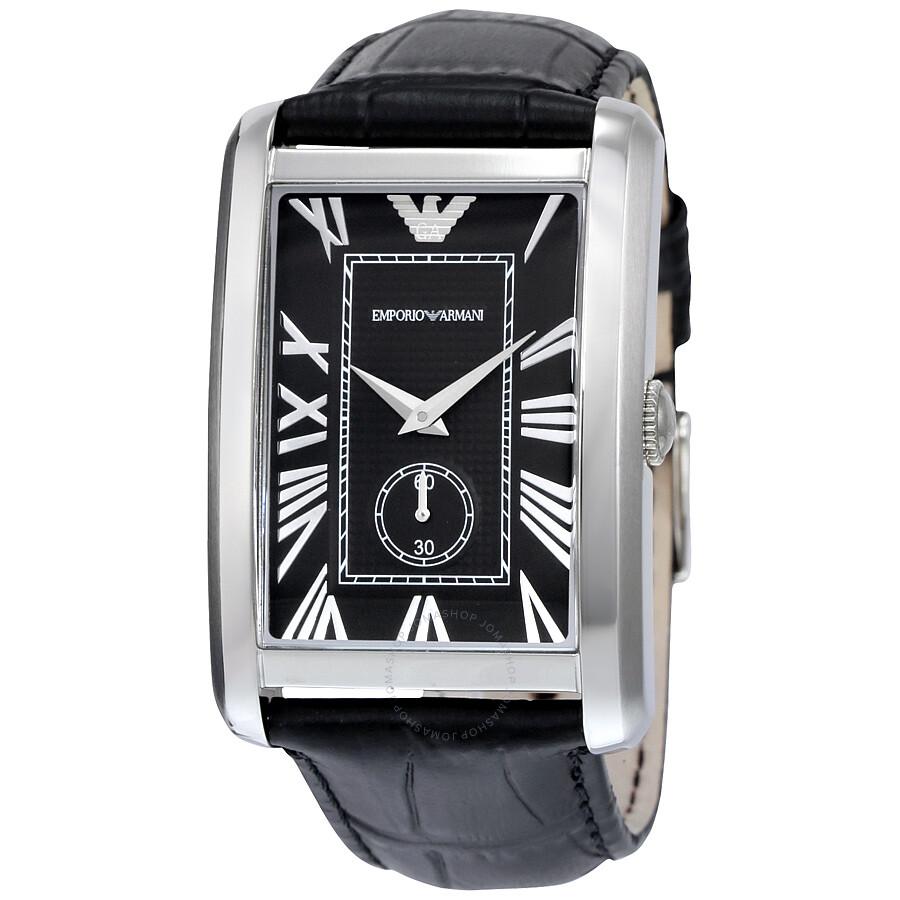 83d5417bdb6 Emporio Armani Classic Black Dial Stainless Steel Quartz Men s Watch AR1604  ...