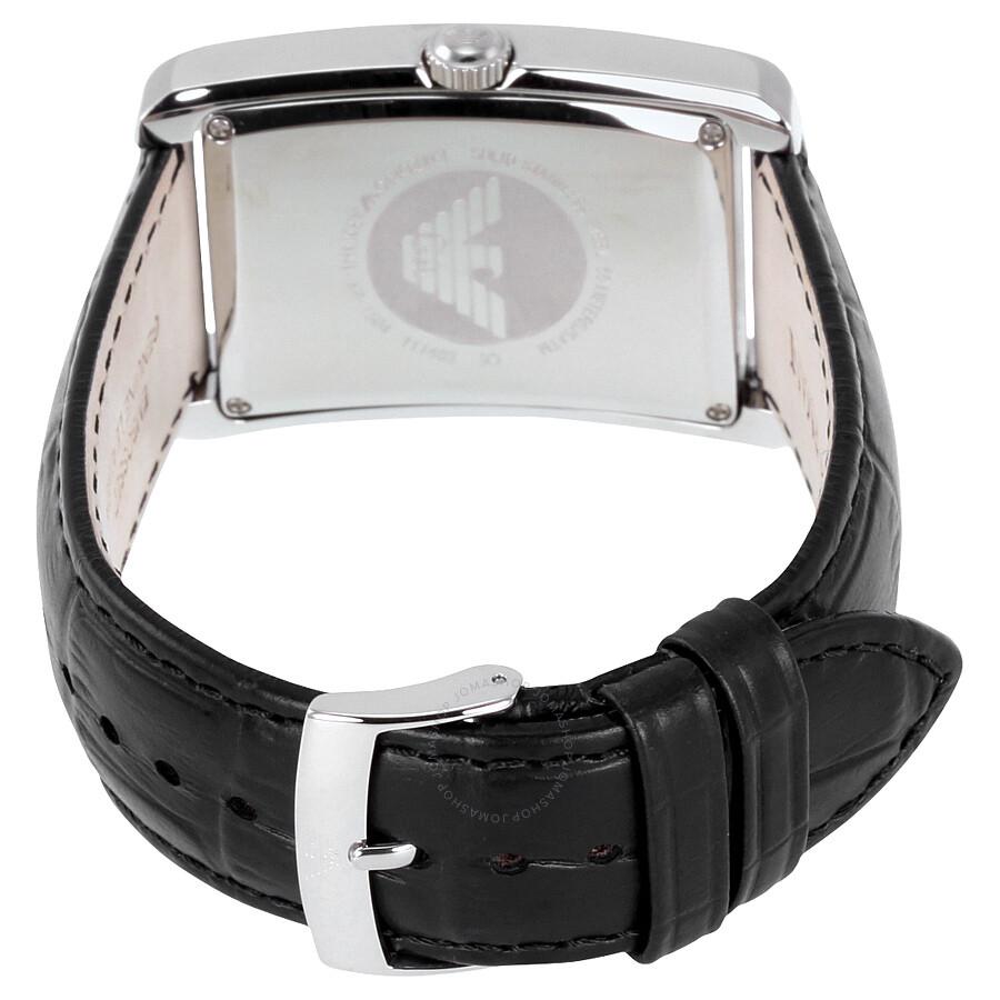 ab64e4c4f2a ... Emporio Armani Classic Black Dial Stainless Steel Quartz Men s Watch  AR1604
