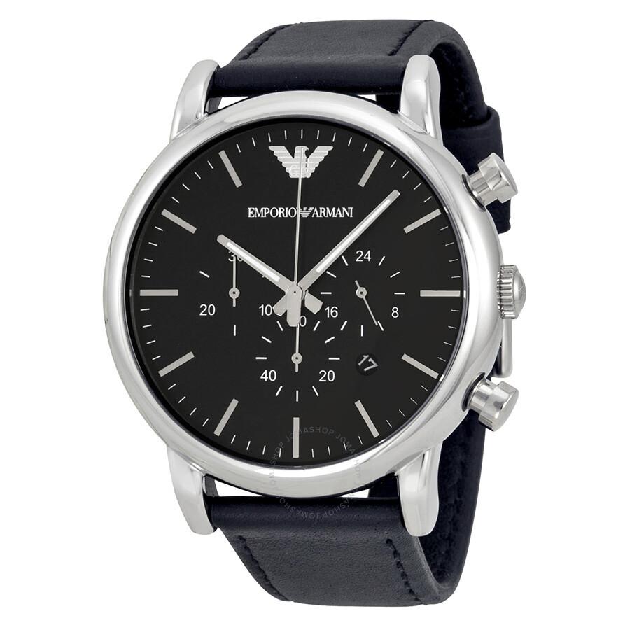 410edf9b0ba7 Emporio Armani Classic Chronograph Black Dial Men s Watch AR1828 ...