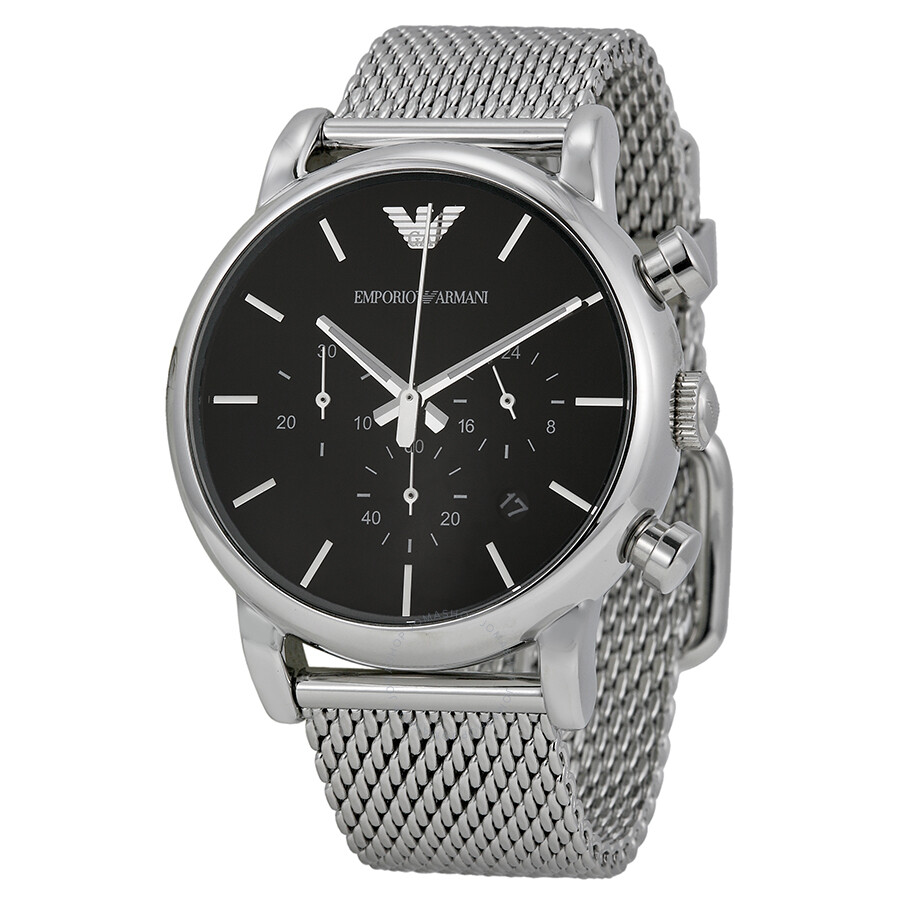 ba03d30bcb2 Emporio Armani Classic Chronograph Black Dial Steel Men s Watch AR1811 ...
