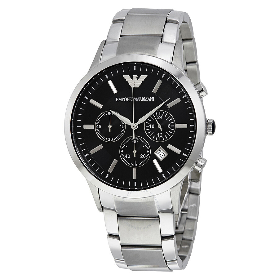 Emporio Armani Classic Chronograph Black Dial Steel Men s Watch AR2434 ... 21b2750ce