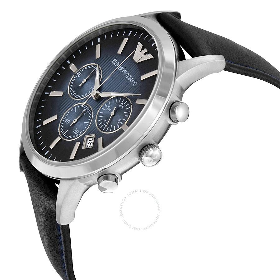 e6a66265607 ... Emporio Armani Classic Chronograph Blue Dial Men s Watch AR2473 ...