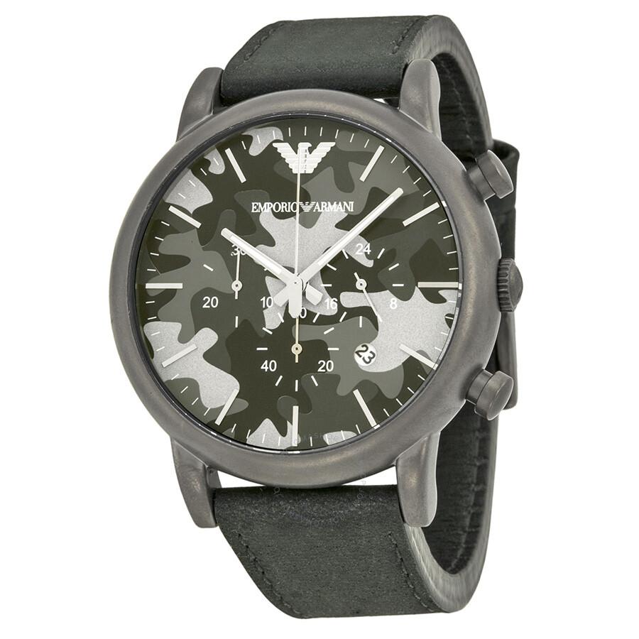 a9b0f5fe00b Emporio Armani Classic Chronograph Grey Camouflage Dial Men s Watch AR1816  ...