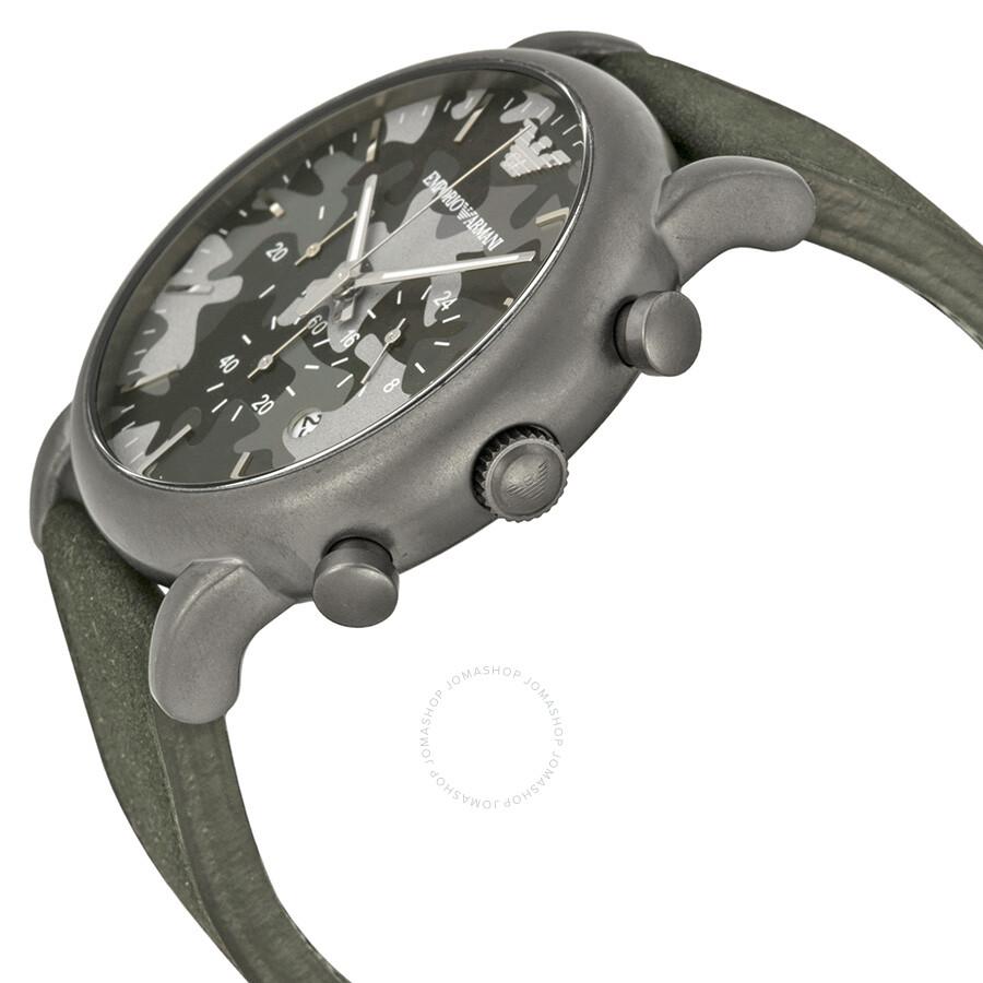 d074f6e5ce7 ... Emporio Armani Classic Chronograph Grey Camouflage Dial Men s Watch  AR1816 ...