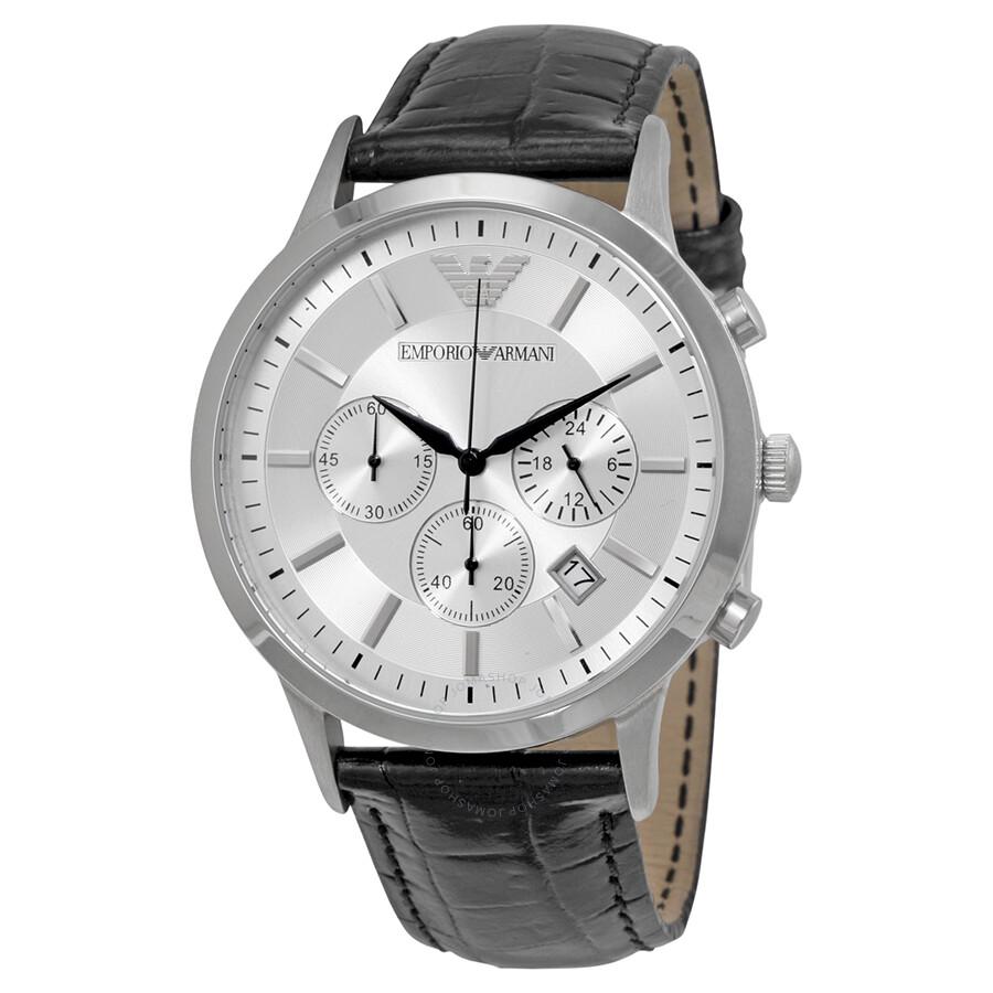69a3b635d227 Emporio Armani Classic Chronograph Silver Dial Men s Watch