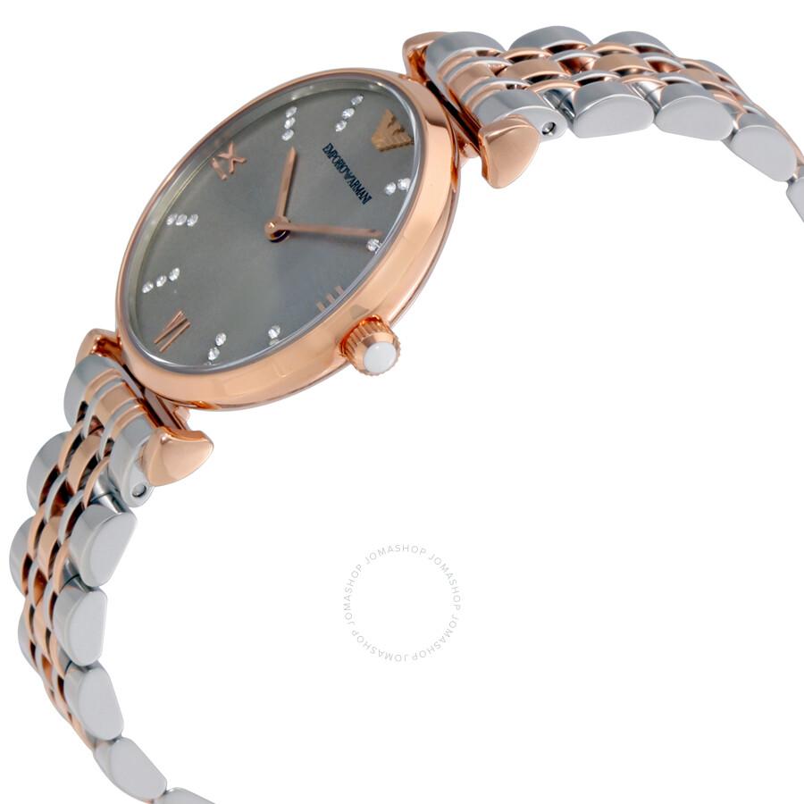 51a3109aa7983 Emporio Armani Classic Grey Dial Ladies Watch AR1840 - Emporio ...