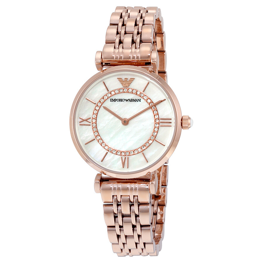 aa65d2e7c31d Emporio Armani Classic Mother of Pearl Dial Ladies Watch AR1909 ...