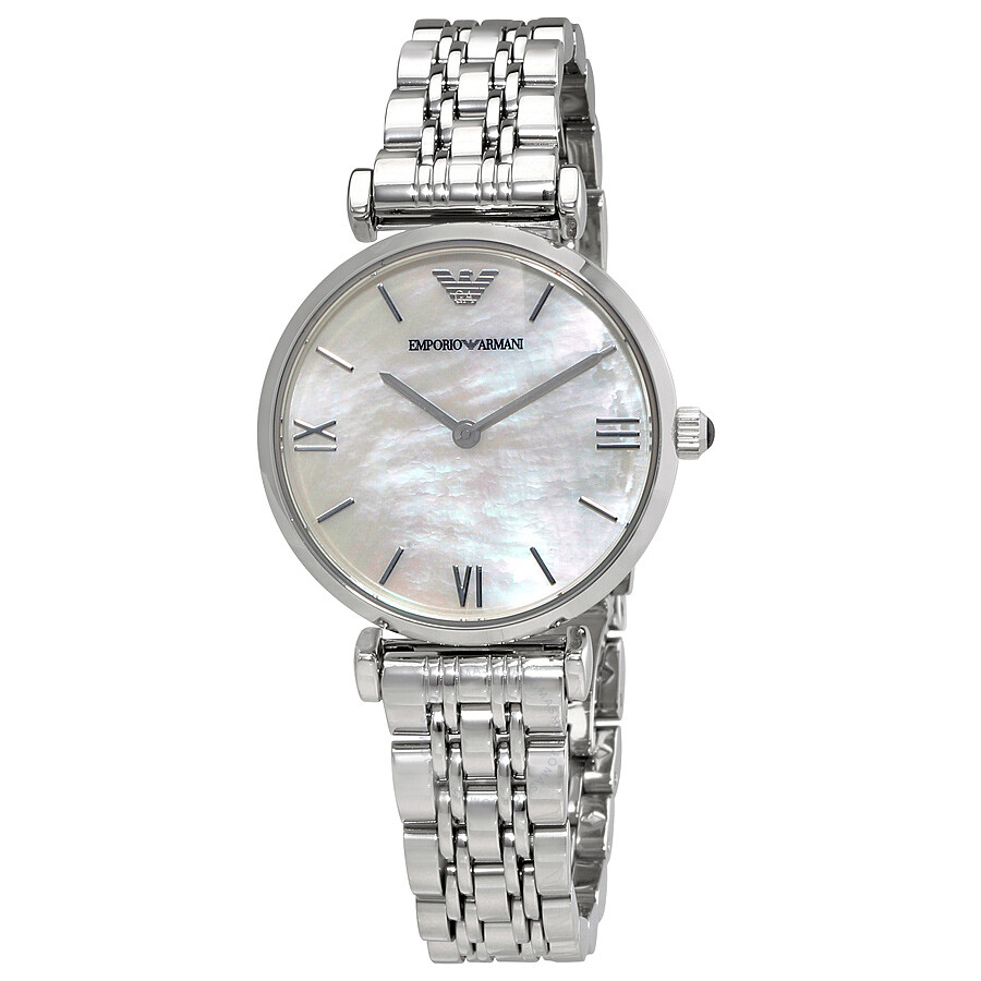 Emporio armani classic mother of pearl dial ladies watch ar1682 emporio armani watches for Pearl watches