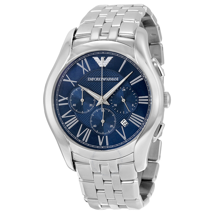 b017527d00b6 Emporio Armani Classic Navy Blue Dial Stainless Steel Men s Watch Item No.  AR1787