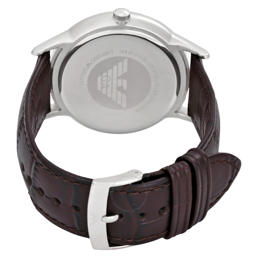 emporio armani dress black dial leather men s dress watch ar2480 emporio armani dress black dial leather men s dress watch ar2480