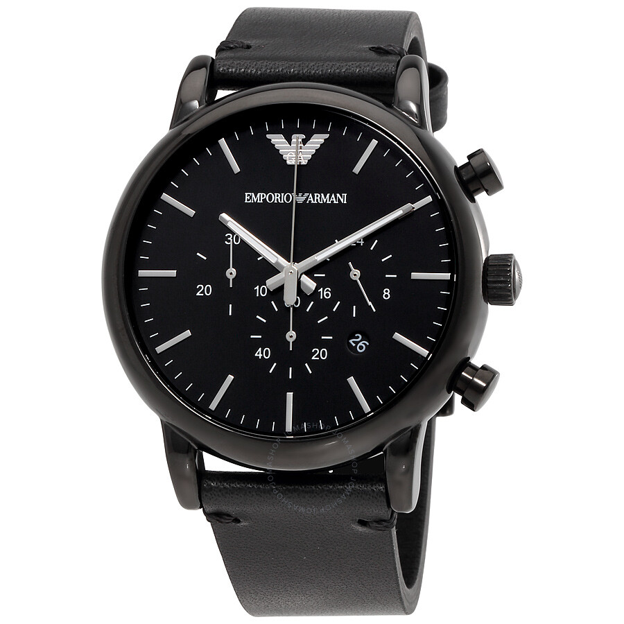 9b705b87 Emporio Armani Dress Chronograph Black Dial Men's Watch AR1918