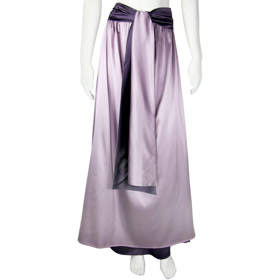 7617fff0cc4d Emporio Armani Empire Waist Lavender/Purple Silk Maxi Skirt - Size 40 ...