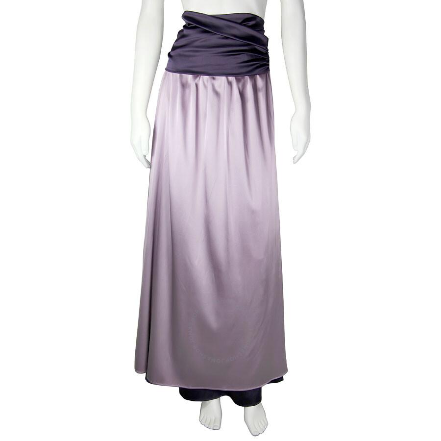 emporio armani empire waist lavender purple silk maxi