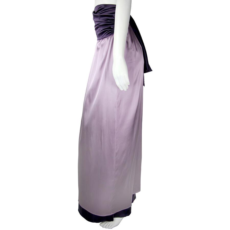 df35e4e42f7d ... Emporio Armani Empire Waist Lavender/Purple Silk Maxi Skirt - Size 40