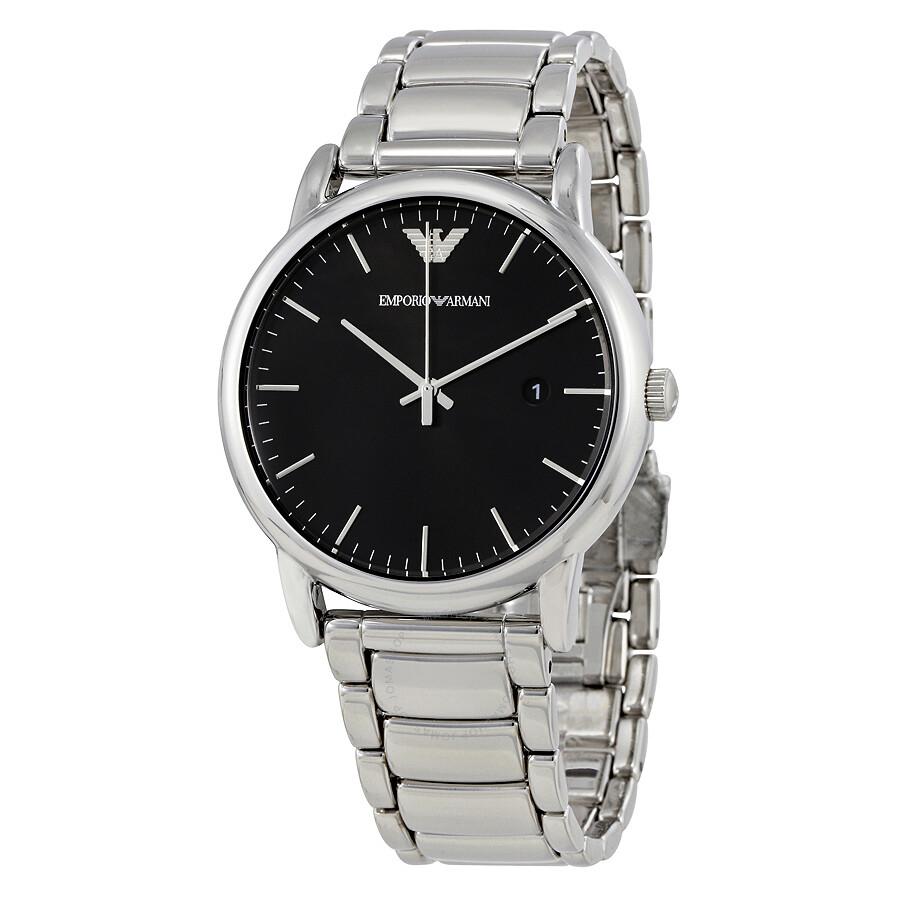 Emporio Armani Luigi Black Dial Men's Watch AR2499 ...