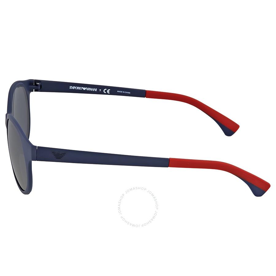 a4cf3d9f90a Emporio Armani Mate Blue Round Sunglasses - Emporio Armani ...