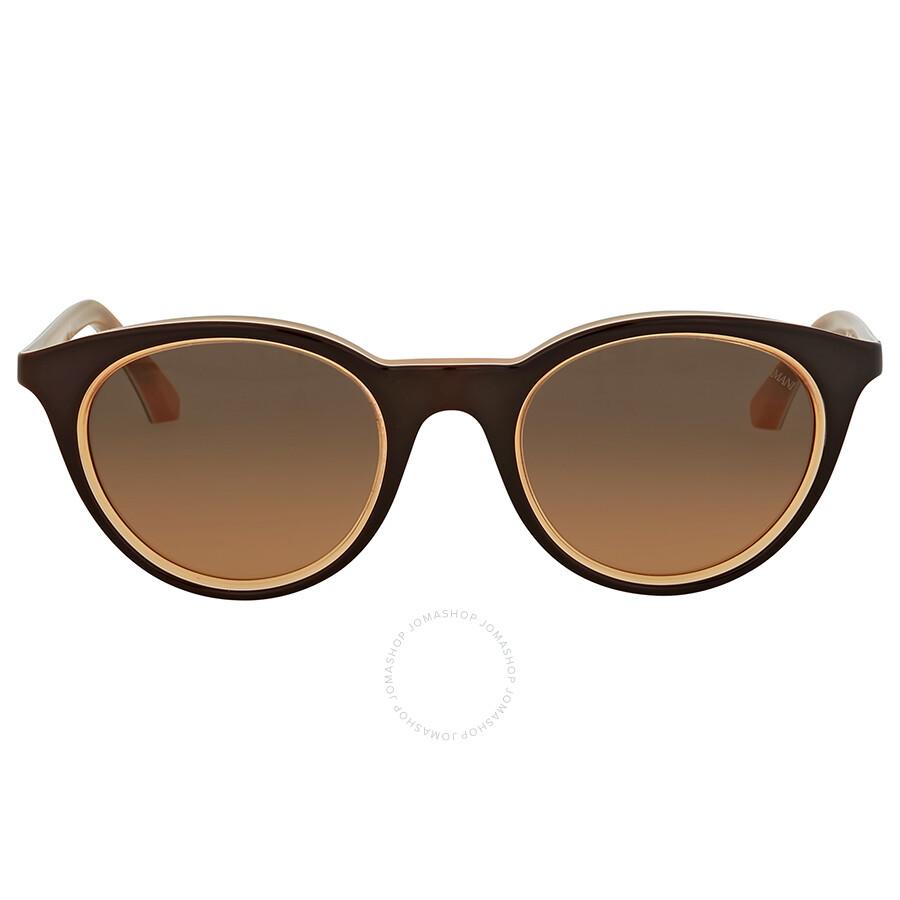 d27deafecca Emporio Armani Orange Gradient Round Sunglasses Item No. EA4061 548018 49