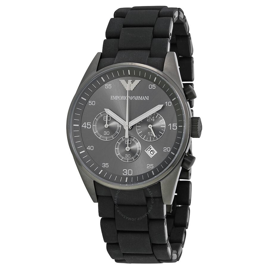 emporio armani sport chronograph black dial men 39 s watch. Black Bedroom Furniture Sets. Home Design Ideas
