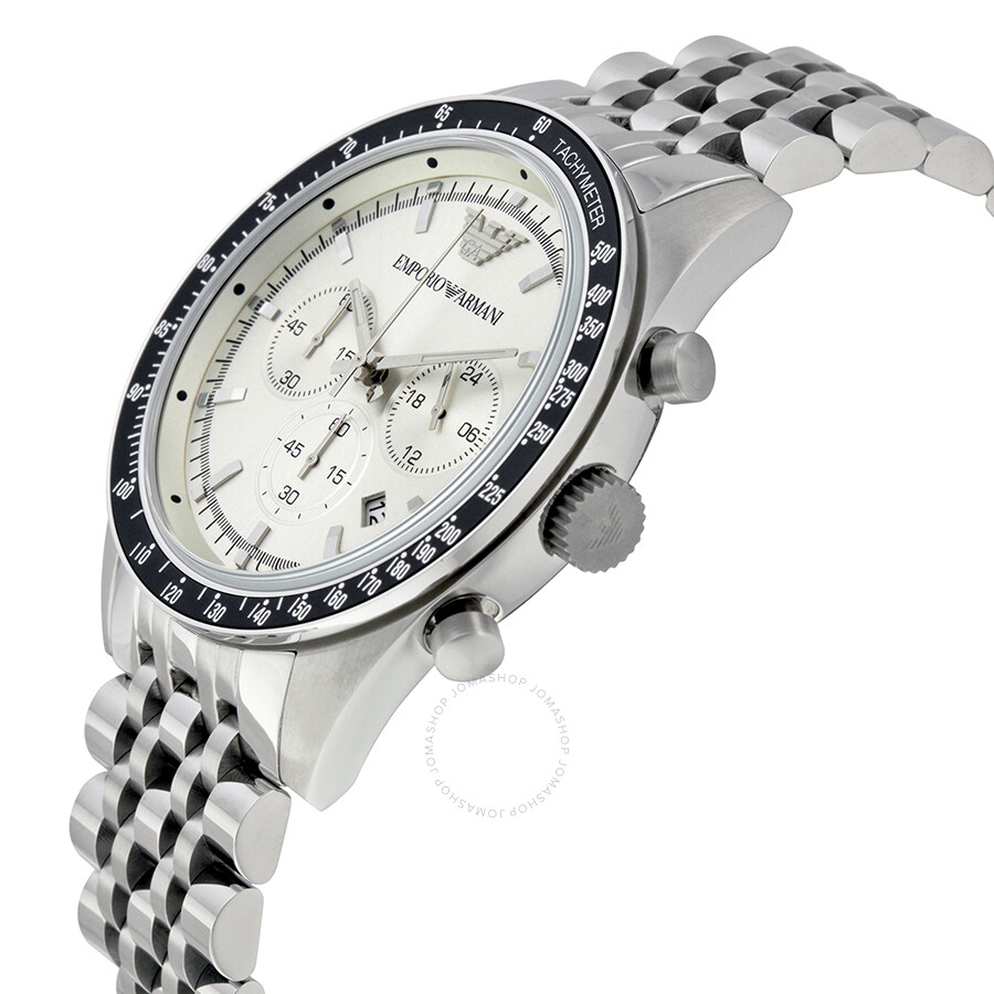 emporio armani sportivo chronograph silver dial stainless. Black Bedroom Furniture Sets. Home Design Ideas