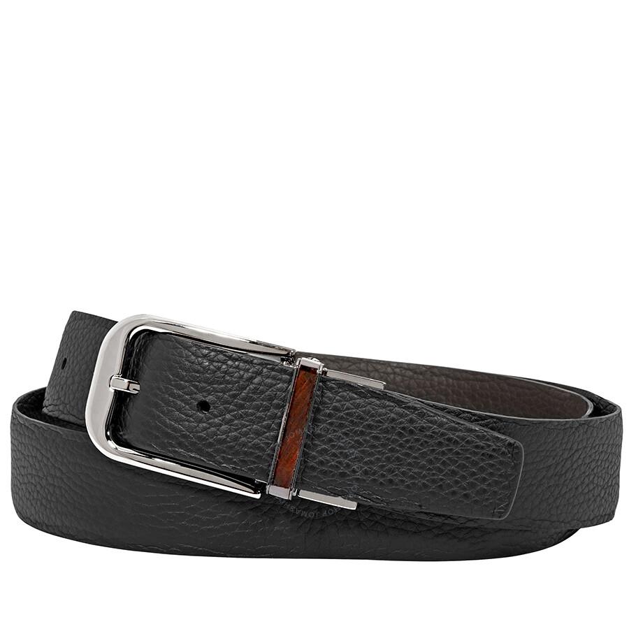 b33e065daf Ermenegildo Zegna XXL Reversible Grained Leather Belt - Black 43