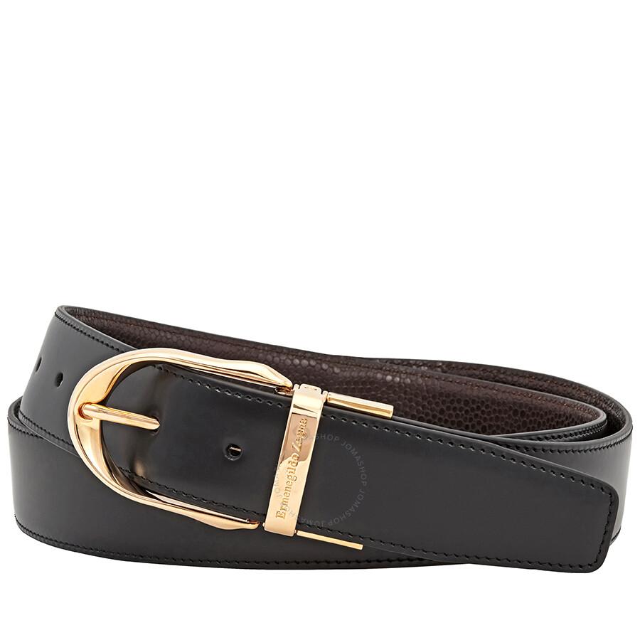 ed236089f8 Ermenegildo Zegna Reversible XXL Leather Belt - Black/ Brown- 43