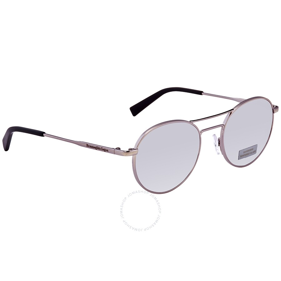 2c7ebc78a Ermenegildo Zegna Smoke Mirror Round Men's Sunglasses EZ008914C50 ...