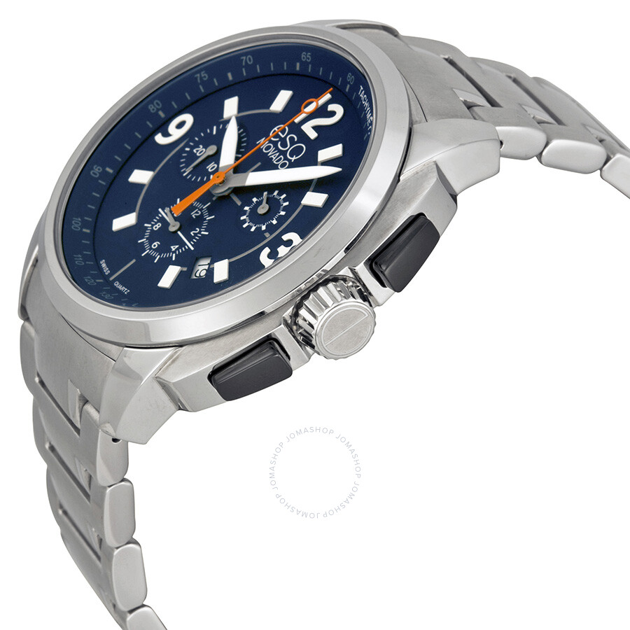 229be149a ... ESQ by Movado Excel Chronograph Blue Dial Stainless Steel Men's Watch  07301417 ...