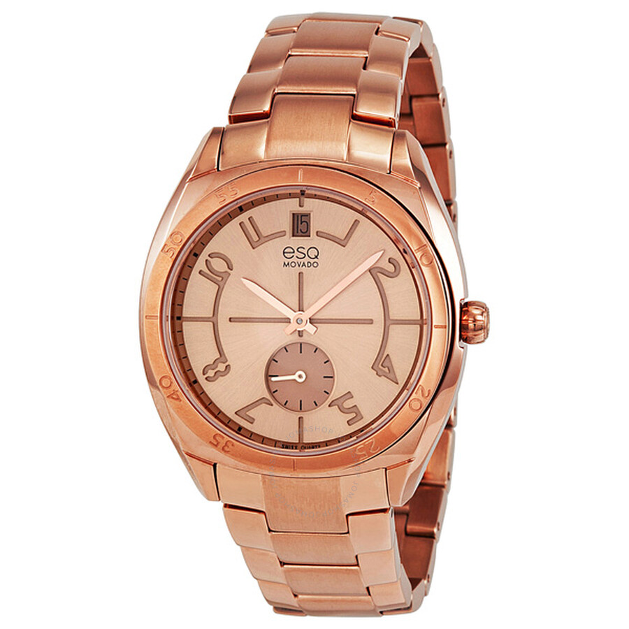 esq by movado origin rose gold ion plated stainless steel. Black Bedroom Furniture Sets. Home Design Ideas
