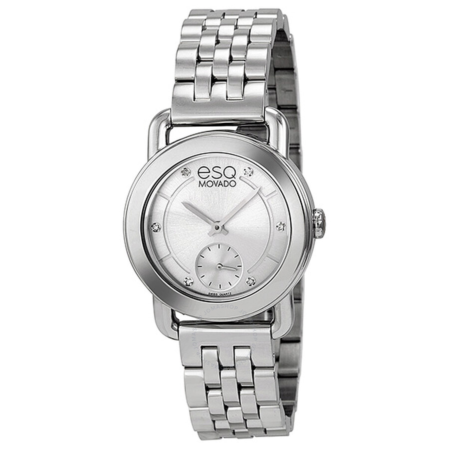 esq classica silver dial stainless steel ladies watch. Black Bedroom Furniture Sets. Home Design Ideas