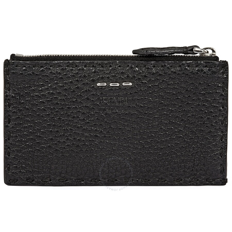 461dc8c840a7 Fendi 5cc Zip Card Holder- Black - Fendi - Handbags - Jomashop