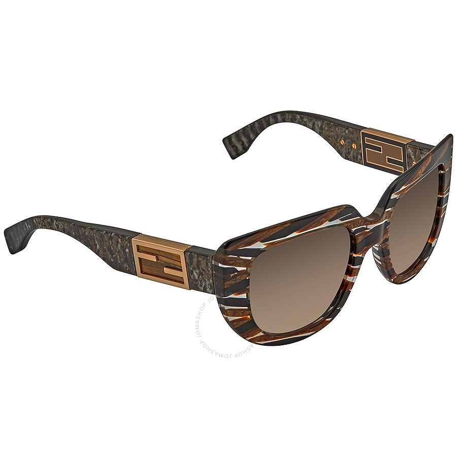 b7af271f9e574 Fendi Baguette Brown Gradient Cat Eye Ladies Sunglasses FF 0031 S 7YQCC 52  ...