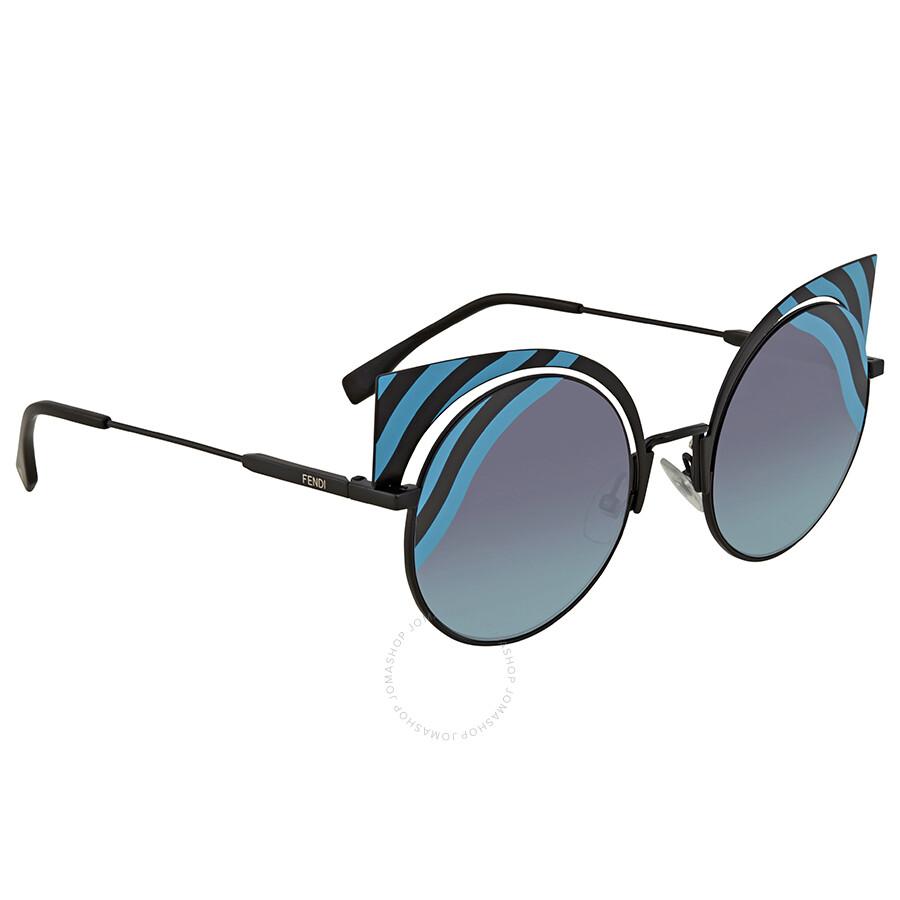 4272518e0db9 Fendi Blue-Aqua Gradient Round Sunglasses FF 0215/S 0LBJF Item No. FF  0215/S 0LBJF