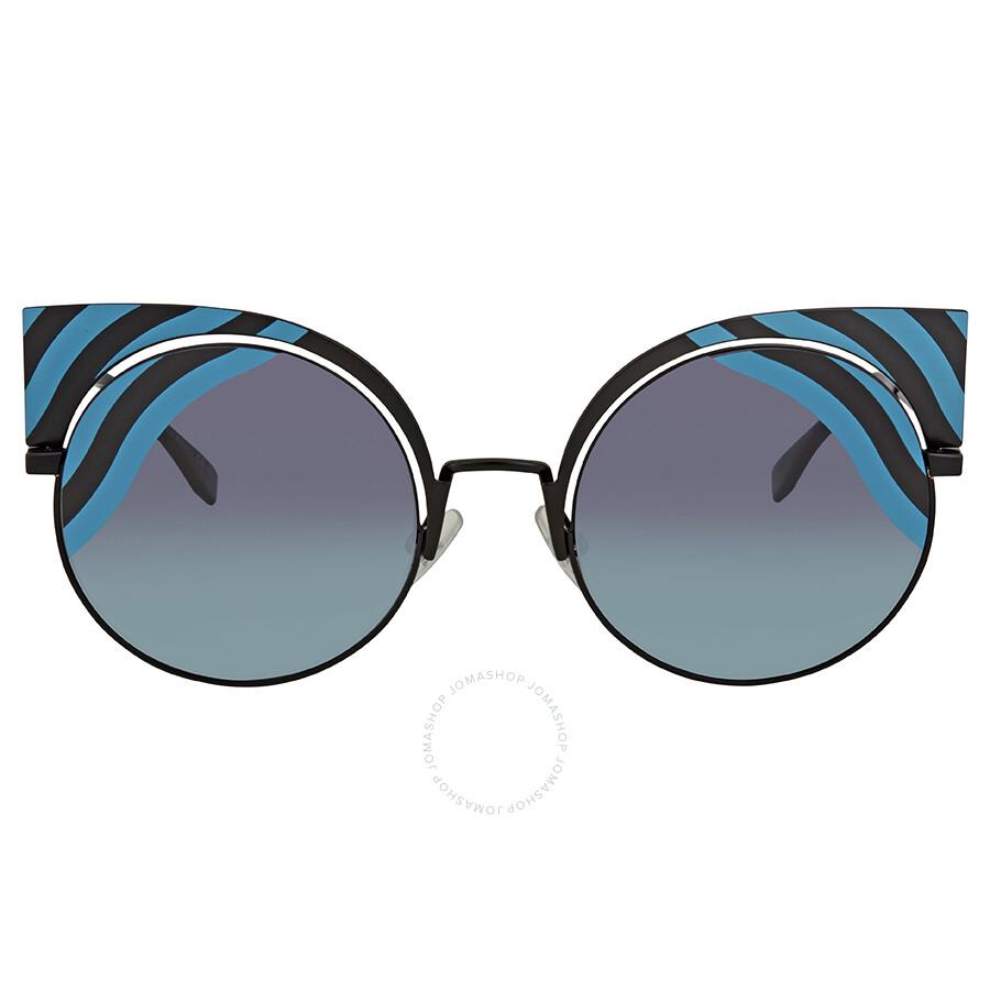 f5dfa98d6d4 Fendi Blue-Aqua Gradient Round Sunglasses FF 0215 S 0LBJF - Fendi ...