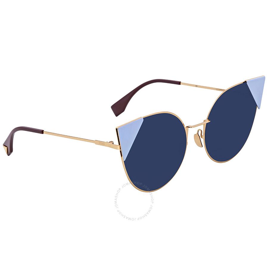 a932e0ad9f Fendi Blue Cat Eye Ladies Sunglasses FF 0190/S 000A9
