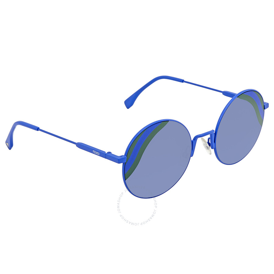 b4bcdb032cdad Fendi Blue Gradient Round Sunglasses FF 0248 S PJP GB 53 - Fendi ...