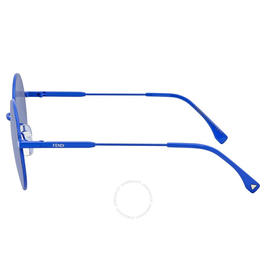 9417a5e294b4 Fendi Blue Gradient Round Sunglasses FF 0248 S PJP GB 53 - Fendi ...