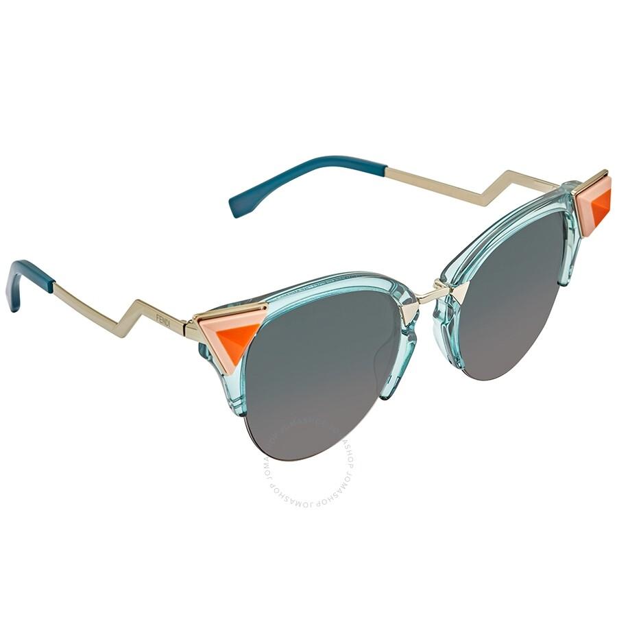 7613537dad Fendi Blue Grey Gradient Cat Eye Ladies Sunglasses FF0041/N/S 0BR0 52