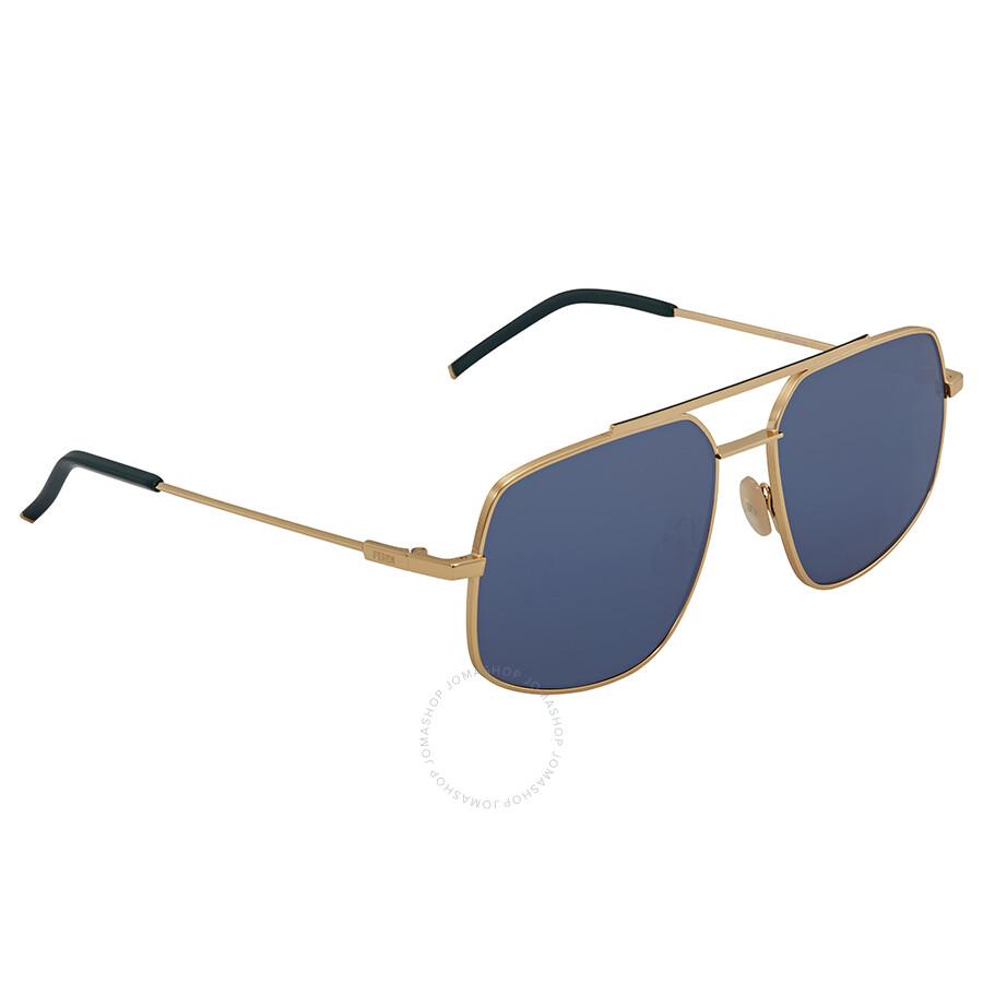 14f98554528 Fendi Rectangular Men s Sunglasses FF M0007 S 000 KU 58 - Fendi ...