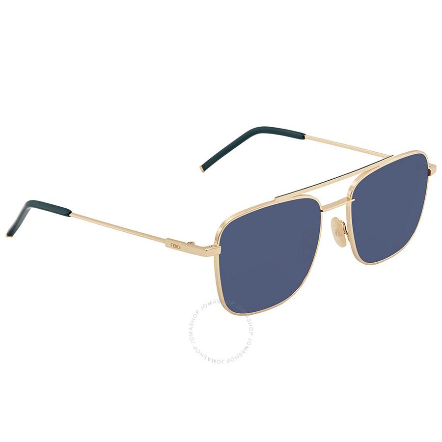 3e8a0e8bb11 Fendi Blue Square Sunglasses FF M0008 S 000 KU 55 - Fendi ...