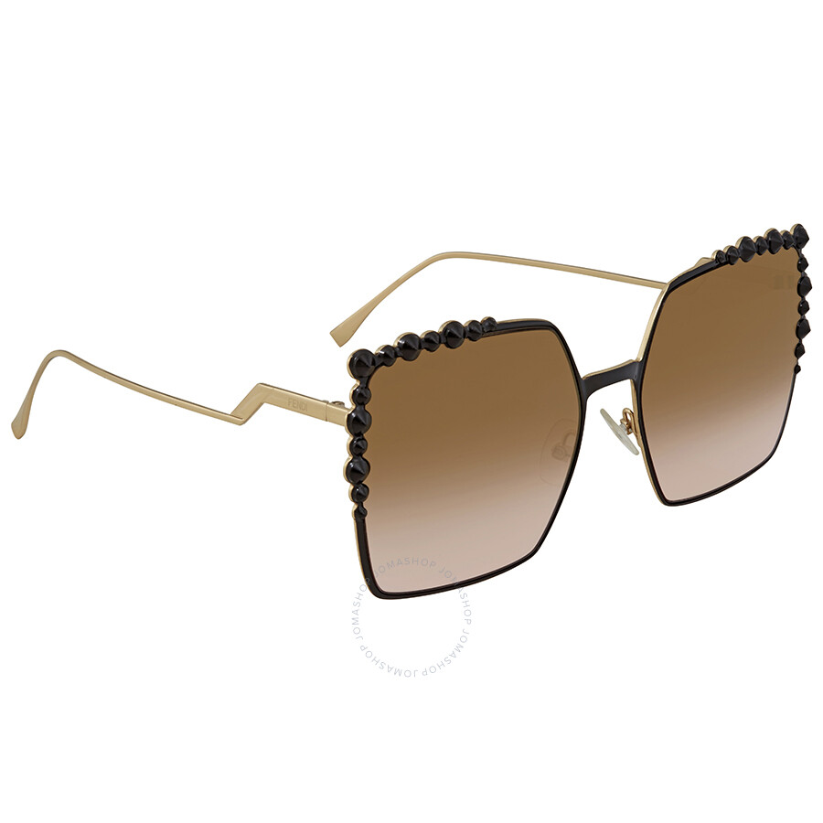 8460ad92 Fendi Brown and Pink Gradient Mirror Square Ladies Sunglasses FF 0259/S  2O5/53 60