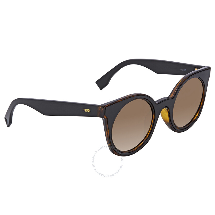 41c7d2cc4d4 Fendi Brown Gradient Cat Eye Ladies Sunglasses FF 0196 F S LC149HA ...