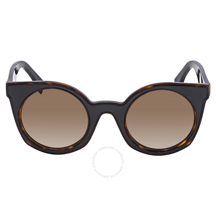 0e9b6f1fadb ... Fendi Brown Gradient Cat Eye Ladies Sunglasses FF 0196 F S LC149HA ...
